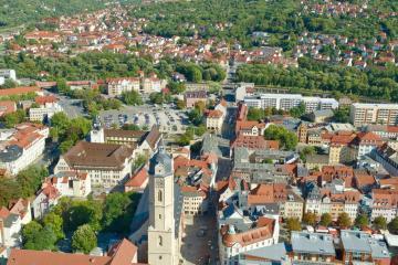 Jena: Car rentals in 2 pickup locations