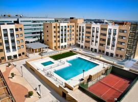 Compostela Suites, hotel cerca de Wanda Metropolitano, Madrid