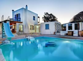 White and blue Villa