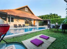 AnB Poolvilla Grand Modern 3BR Jomtien for 10pax