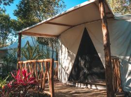 Huaya Camp, hotel económico en Tulum