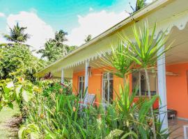 Villa caribéenne vue mer, avec piscine