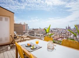 Central penthouse with terrace Placa Catalunya III, apartamento en Barcelona