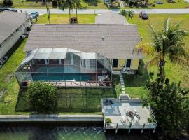 Large gorgeous 3/3 waterfront house with pool and dock and boats and fishing rod