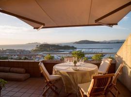 Inmejorables vistas a las islas Cies, hotel en Baiona