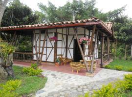 Hostal Finca Palo Alto cabaña 2 camas dobles