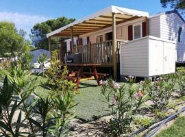 Mobil Home Résidentiel 6/8 personnes en Village Vacances à Canet Plage
