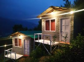 Dawn-lit Huts n Camps