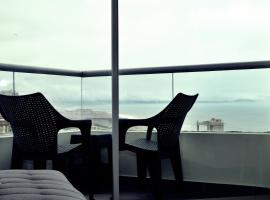 Departamento romántico - vista al océano pacífico.
