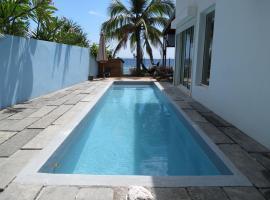 Villa Frangipanier avec piscine sur la plage