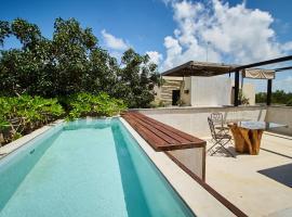 OCEANO 8 - Vintage apartment & bath tub & BBQ, hotel económico en Tulum