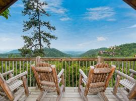 Entire Log Cabin w/ Panoramic Views, Hot Tub, Fireplace, Pool Table, Loft, Patios!