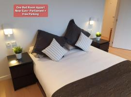 1 bedroom appart near Euro Parlia + parking