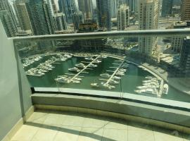 1 bedroom in Dubai Marina with full marina view , 1 of 2 bedrooms in 2br apartment!