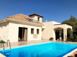 Amathousia Villa with private pool and sea view