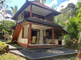 Nice house, quiet place, with beautiful view of rice field