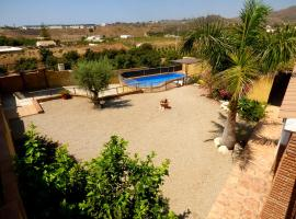 Semi heated private pool front 2,2 kms beach, all private