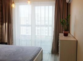 Apartment near Mega Khimki with a balcony