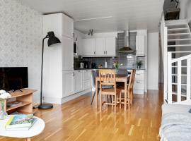Modern family home in Stockholm Kista - master bedroom and loft bedroom
