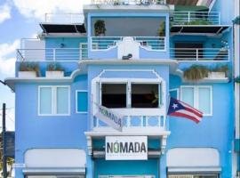 Nomada Urban Beach Hostel, glamping site in San Juan