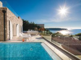 Luxury Seafront Villa Primosten Glamour with private pool, sauna and gym at the beach in Primosten