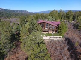 Secluded beautiful home, large hot tub with views, pet-friendly hotel in Pagosa Springs