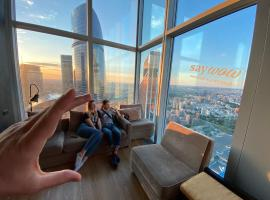Самый высокий отель в Европе с лучшим видом на Москву - Say Wow Capsule Hotel, hotel near Triumphal Arch of Moscow, Moscow