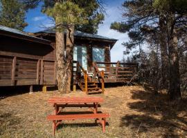 Circular fireplace, single car garage, views, 8, pet-friendly hotel in Pagosa Springs