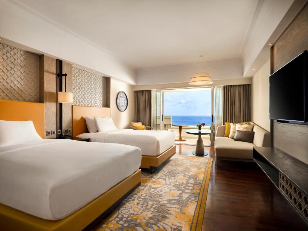 Двомісний номер Делюкс з 2 односпальними ліжками та видом на океан : фотографія №1