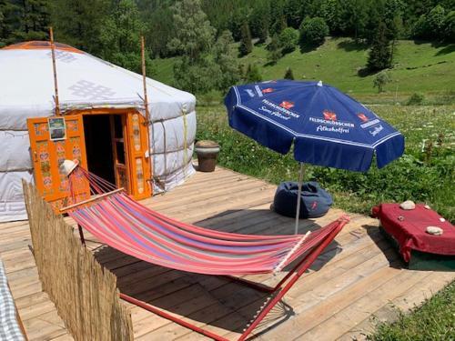 Mongolian Yurt near Mont Blanc