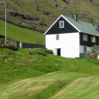 Idyllic house near river and ocean