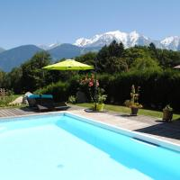 Studio + piscine face au Mt Blanc