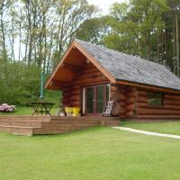 lyne view, log cabin