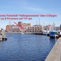 Meerblick-Traumloft Hafenpanorama mit Balkon/Parkplatz