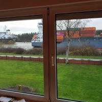 Ferienwohnung mit wunderschönem Blick auf den Nord-Ostsee-Kanal