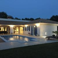 Villa Blanca with a heated private pool