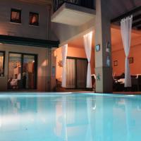 4-seasons pool villa near Meteora
