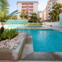 Apartamento Ubatuba, AR, Varanda Gourmet, Piscinas e 300mt Praia