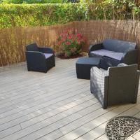 studio climatisé avec jardin