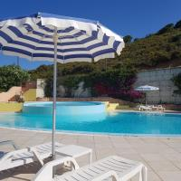 Ground floor studio with seaview and swimming pool
