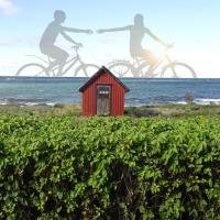 liten stuga med havsutsikt i Byxelkrok