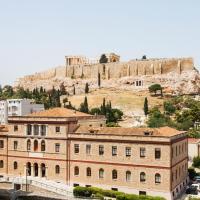 Across Acropolis Museum chic design apartment!