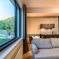 Bratislava center, river front, private parking included