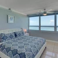 Cute oceanfront condo with shared pool, bar, and gym!
