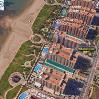 Apartamento 1ª Línea de mar en Marina d'Or con césped y playa [Familiar]