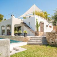 Cala Tarida Villa Sleeps 10 with Pool Air Con and WiFi