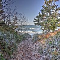 Serene Cottage w/ Patio - Steps to Lake Michigan!