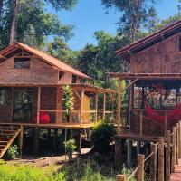 Bambu Chalé Flor da Vida