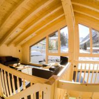 Ferienhaus Alpen Lodge und die Gams