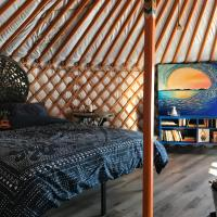 Secluded off-grid yurt down by the river